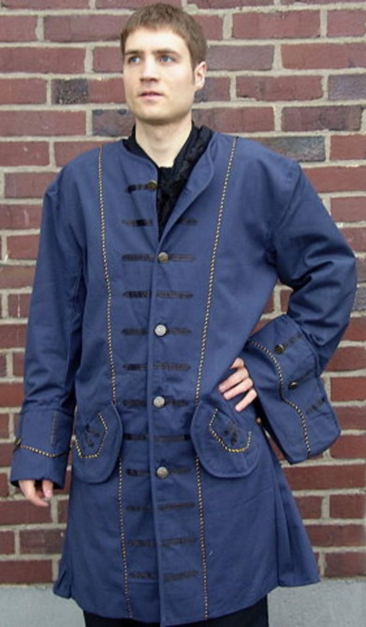 Mittelalter Piraten Jacke in Blau
