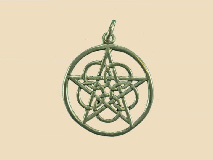 Keltisch Pentagram Hanger Zilver