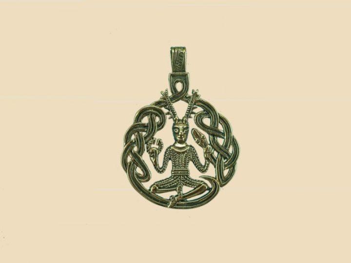 Keltische God van de Dieren Hanger Brons