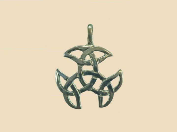Keltische Open Triad Hanger Zilver