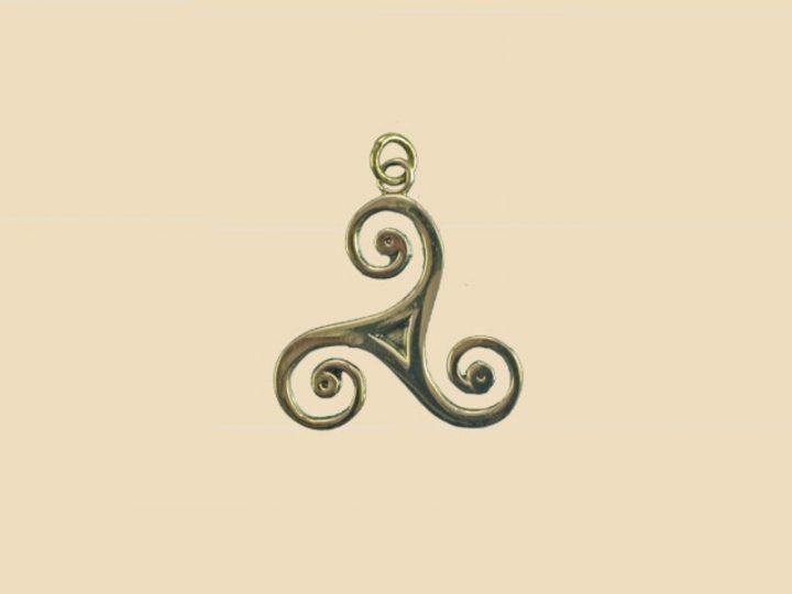 Keltische Triskel Zonnenwiel Hanger Brons
