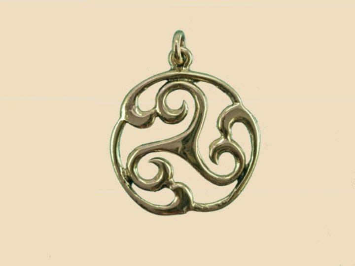 Keltische Triskel Zonnenwiel Brons