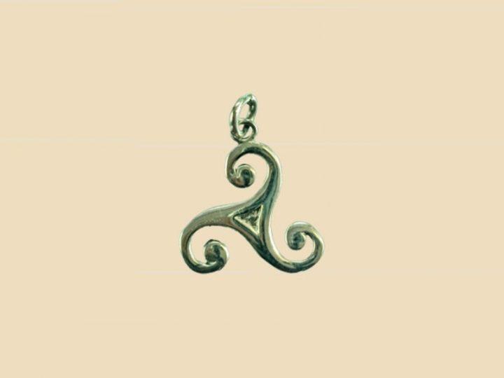 Keltische Triskel Zonnewiel Hanger zilver