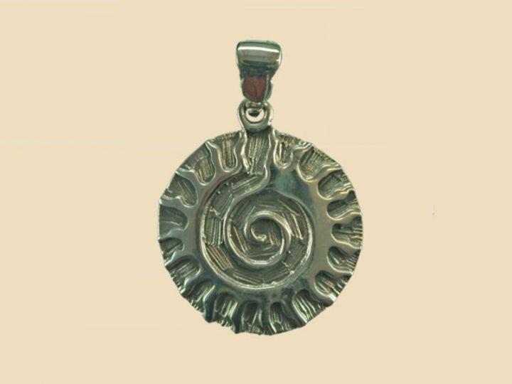Keltische Zonnegod Hanger Zilver