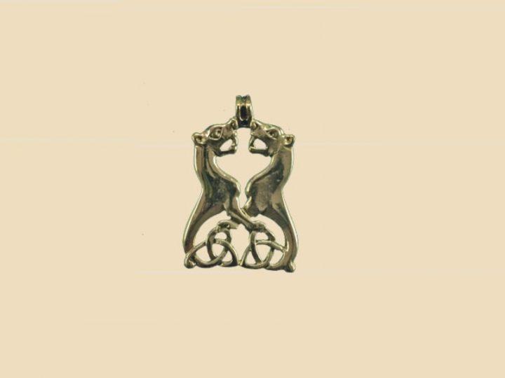 Keltischen Hunde Anhanger Bronze VCCP-4