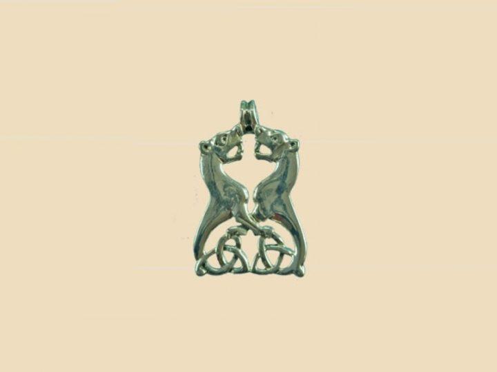 Keltische Honden Hanger Zilver