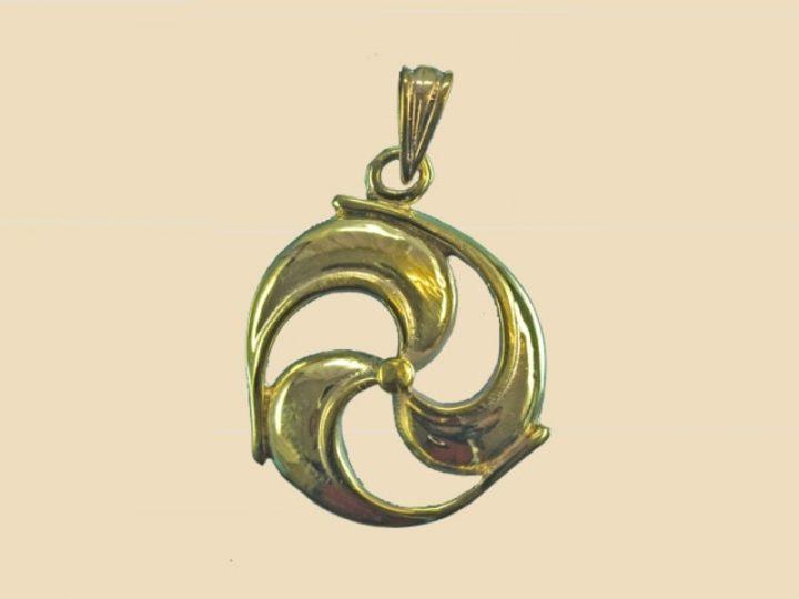 Keltisch Zonnewiel Triskel Hanger Brons