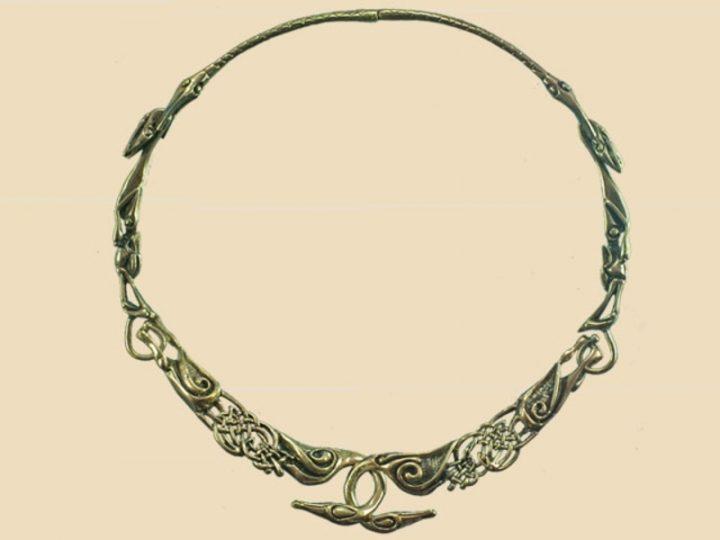 Keltische Zwanenhalsband Brons