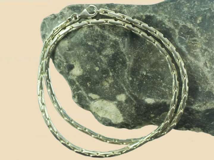 Wikinger Kette 60cm Silber
