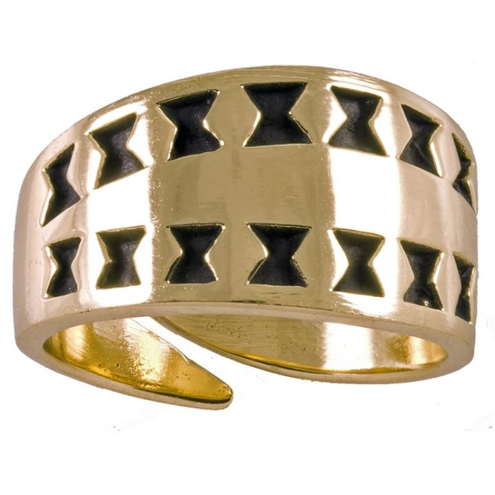 Replica  Viking Ring Brons klein