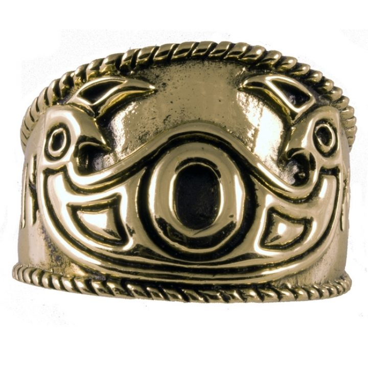 Viking Odin Ring Brons Klein