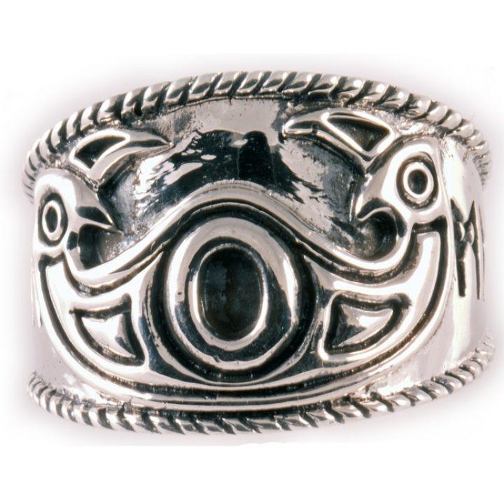 Viking Odin Ring Zilver Klein