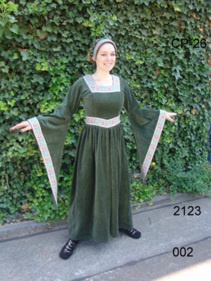 Mittelalter Kleid Grun