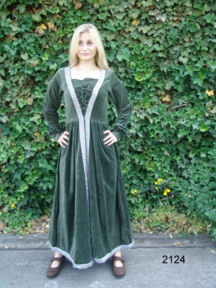Middeleeuwse Jurk in Groen