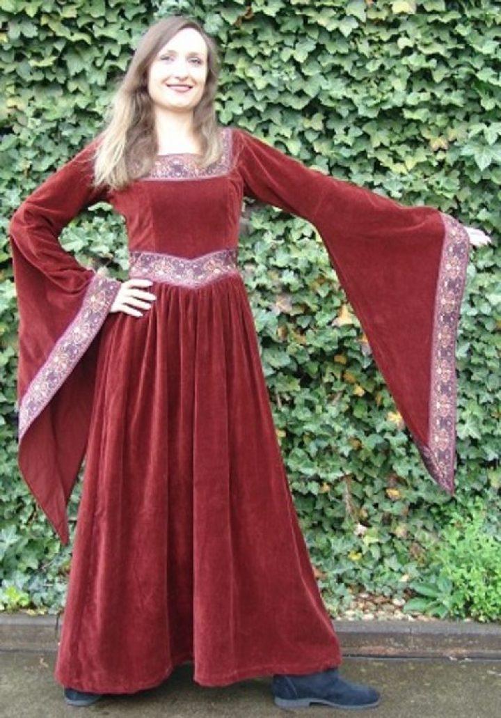 Mittelalter Kleid Rot