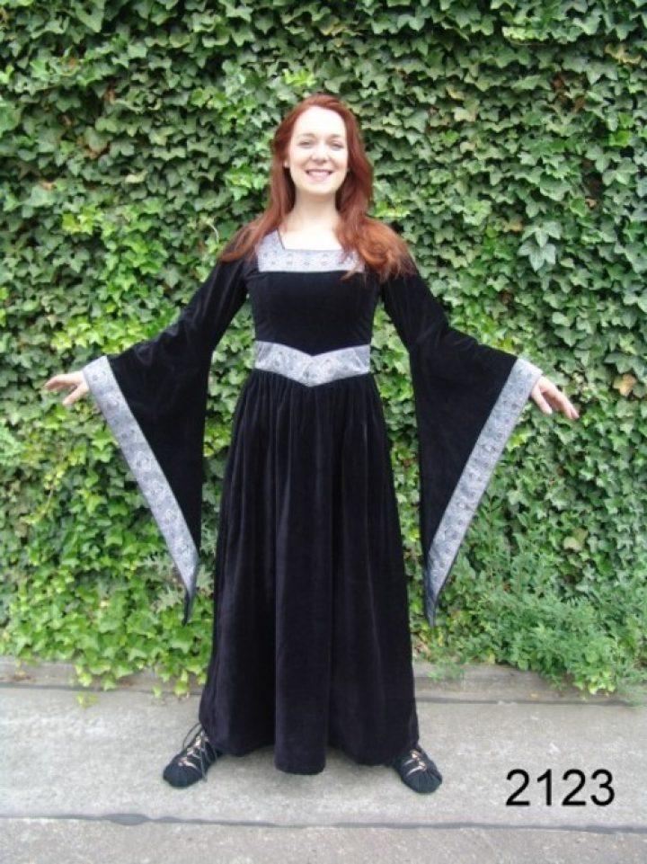 Middeleeuwse Jurk Zwart