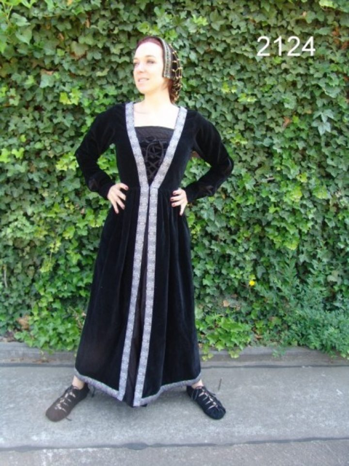 Middeleeuwse Jurk in zwart