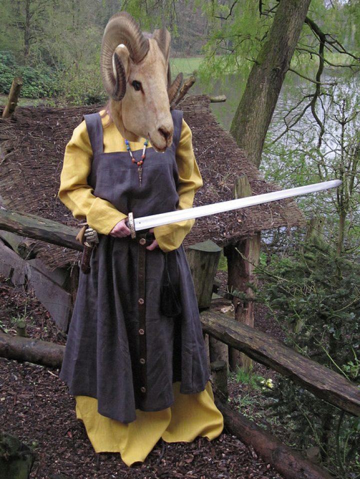 Viking dames kleding linnen