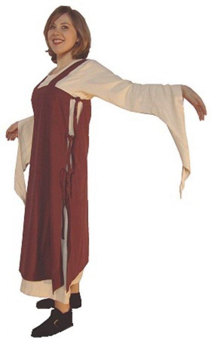 Middeleeuwse Over jurk in rood