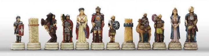 Romeinen tegen Arabieren Schaakstukken