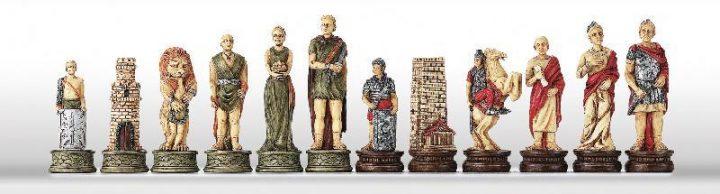 Romeinen tegen Gladiatoren Schaakstukken