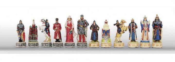 Russen tegen de Mongolen Schaakstukken