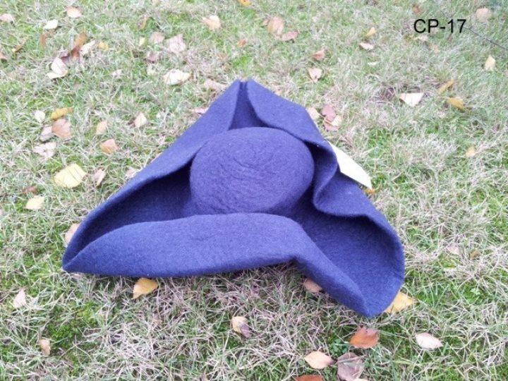 Filzhut Dreispitz Blau