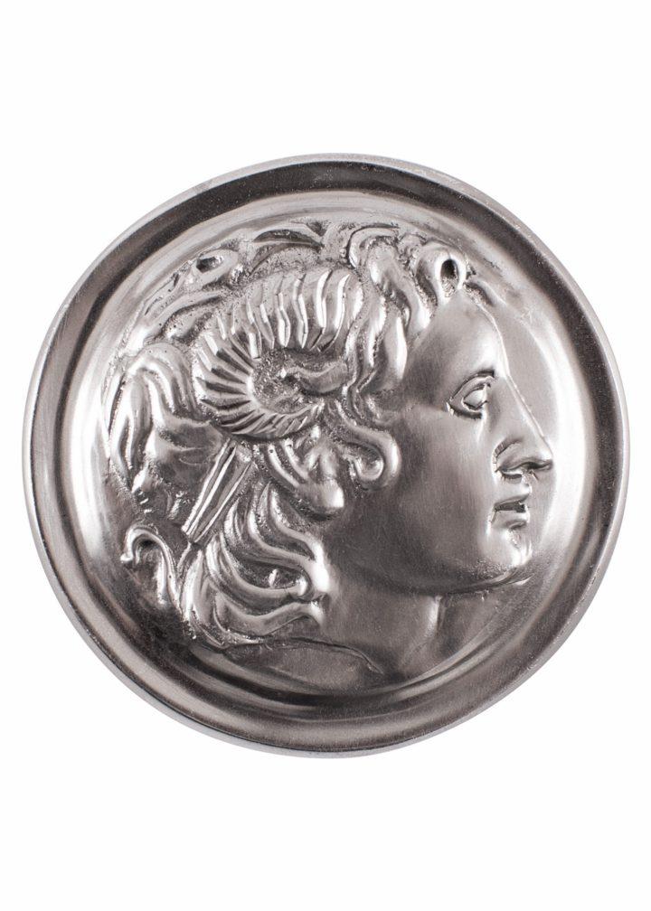 Römische Phalera aus Verzinntem Messing, Alexander der Große