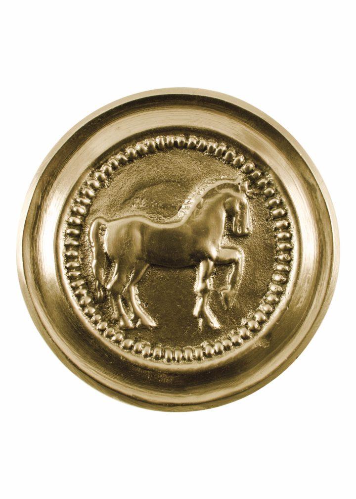 Römische Phalera, Pferd, Messing