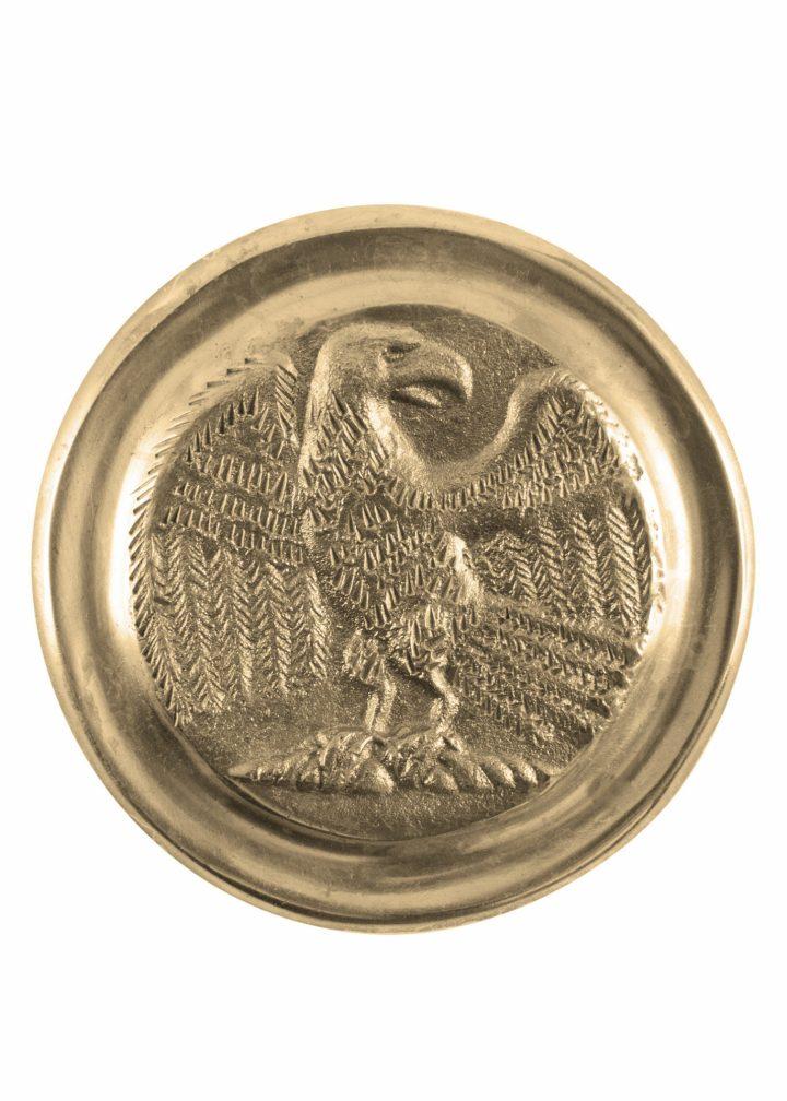 Römische Phalera, Großer Legionsadler, Messing.