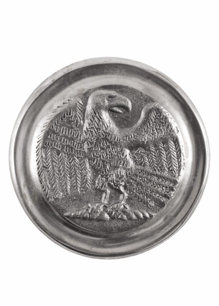 Römische Phalera, Großer Legionsadler, verzinntes Messing