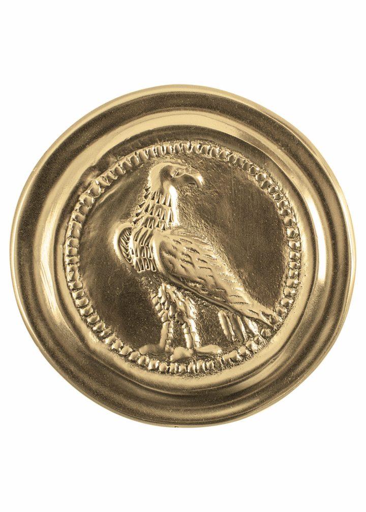 Römische Phalera, Kleiner Legionsadler, Messing.