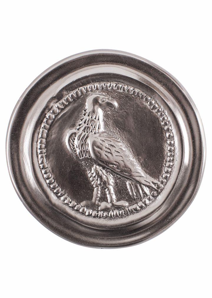 Römische Phalera, Kleiner Adler, verzinntes Messing