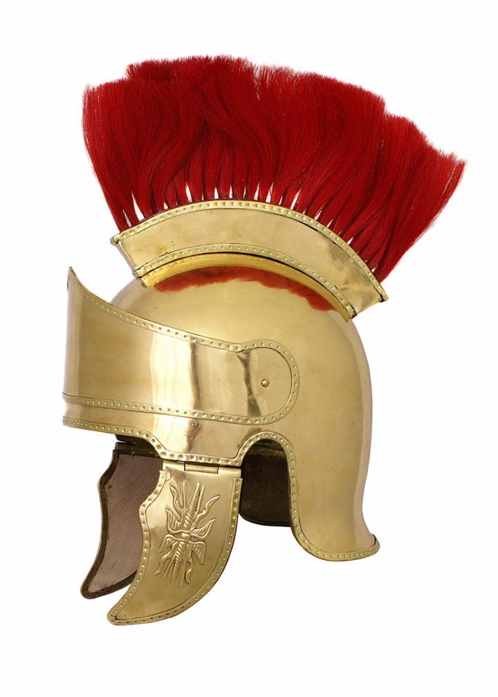 Attischer Helm aus Messing mit Haarbusch, ca. 300 v. Chr.