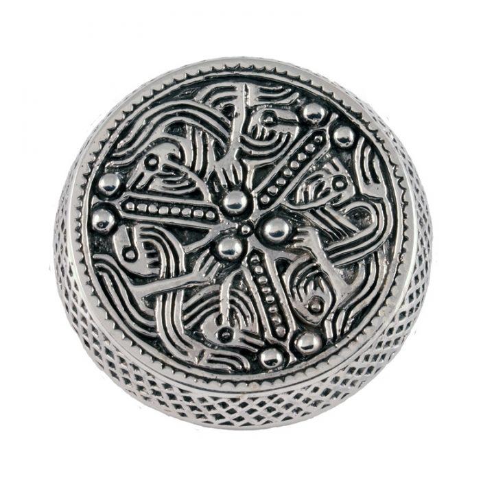 Wikinger Dosenfibel 700-750 n. Chr. Silber