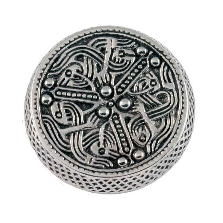 Viking Doos Fibula 700-750.n.Ch. Zilver