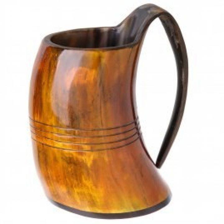 Drinkhoorn Beker bruin