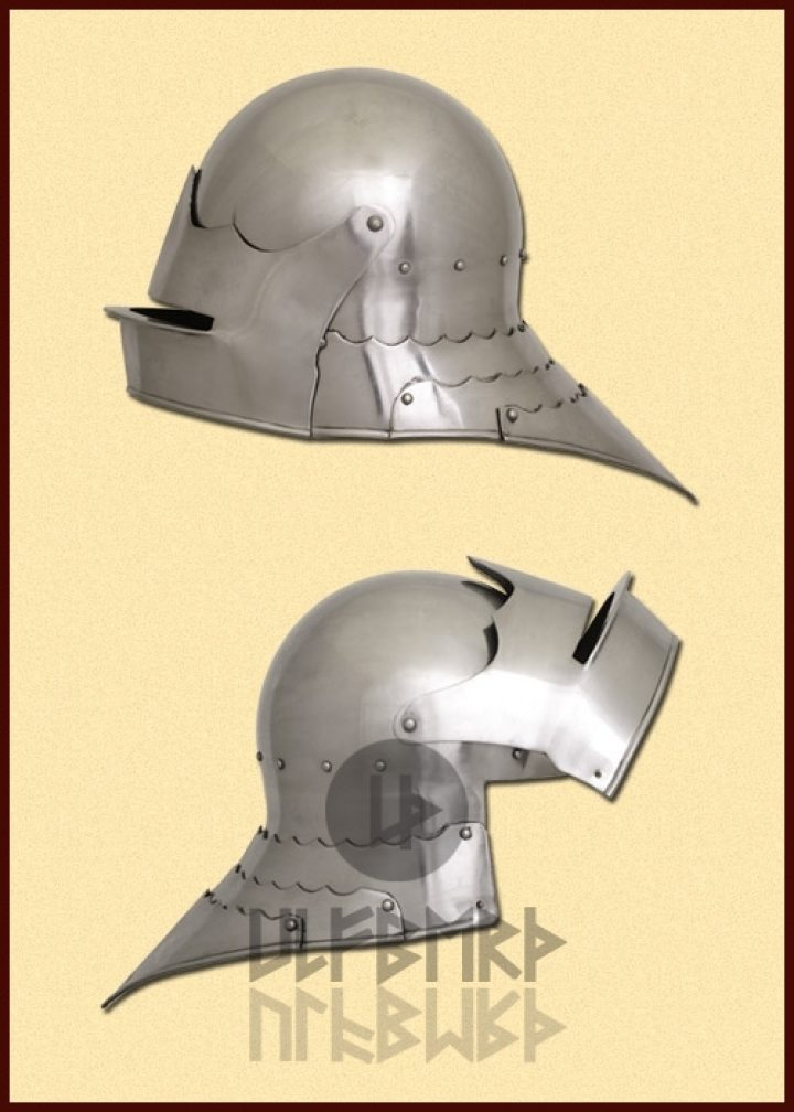 Sallet Helm 15e eeuws in M, L