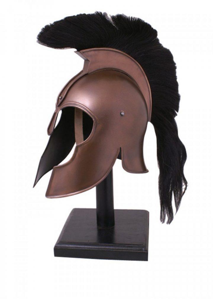 Griechischer Helm aus Troja mit Helmbusch