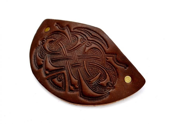 Haarclip Keltische Knoop Bruin