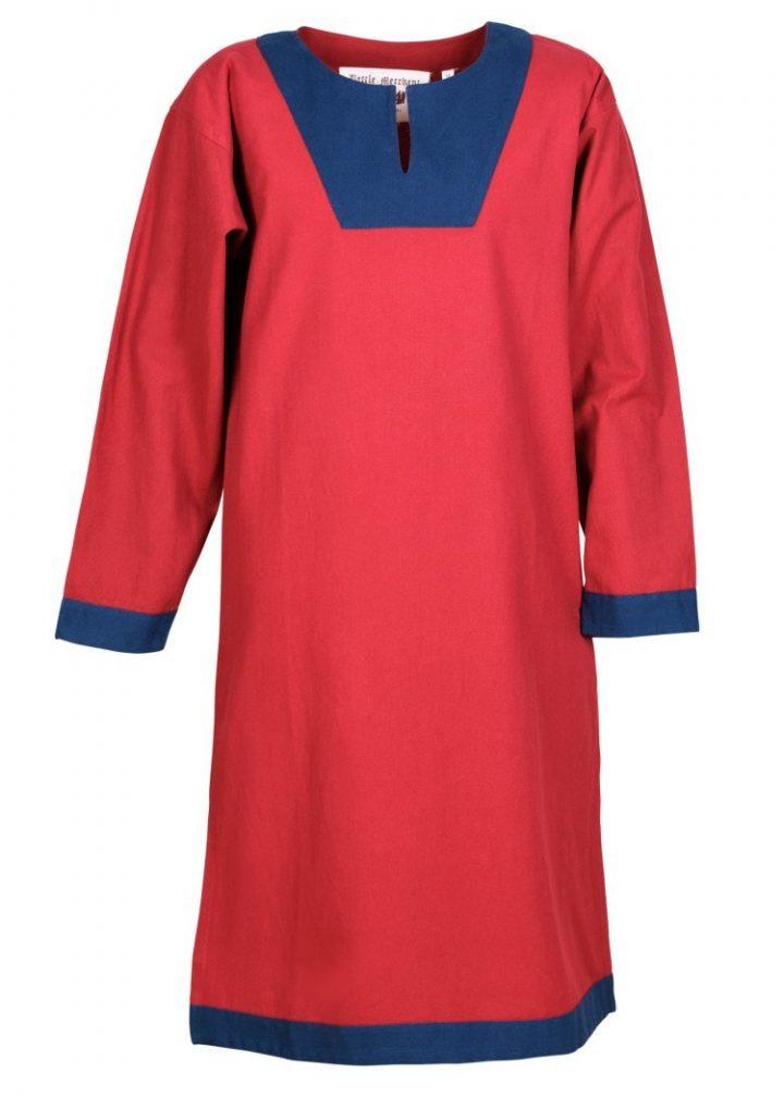 Vroeg Middeleeuws Tuniek in Rood met Blauw