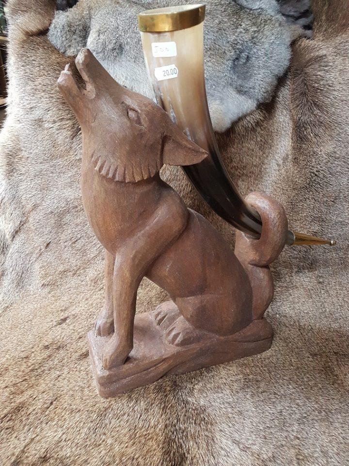 Drinkhoorn standaard Viking Wolf