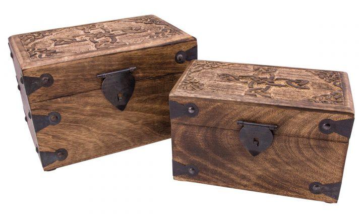 Houten kistje Klein 20 x 11 x 12 cm