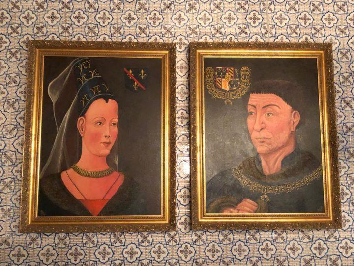 Gemälde von Charles the Stout und Isabella von Bourbon