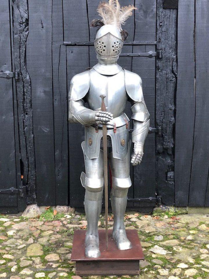 Gebraucht Model Replik von Ritter Rustung von Marto Von ca. 50 jahre alt