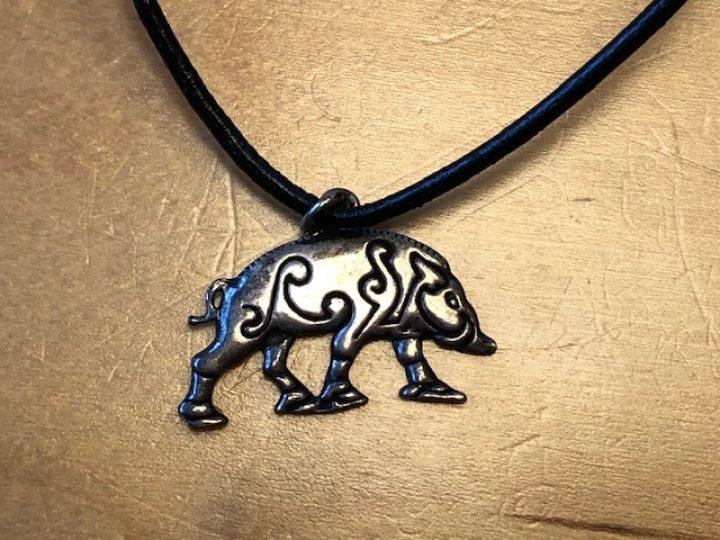 Viking Wildzwijn in zilverkleur