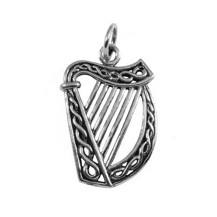 Ierse Harp Hanger Zilver Klein
