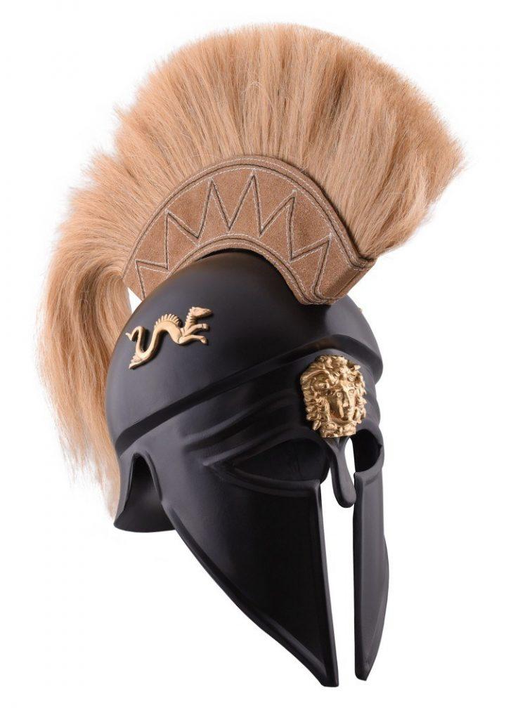 Korintische helm met Helmkam