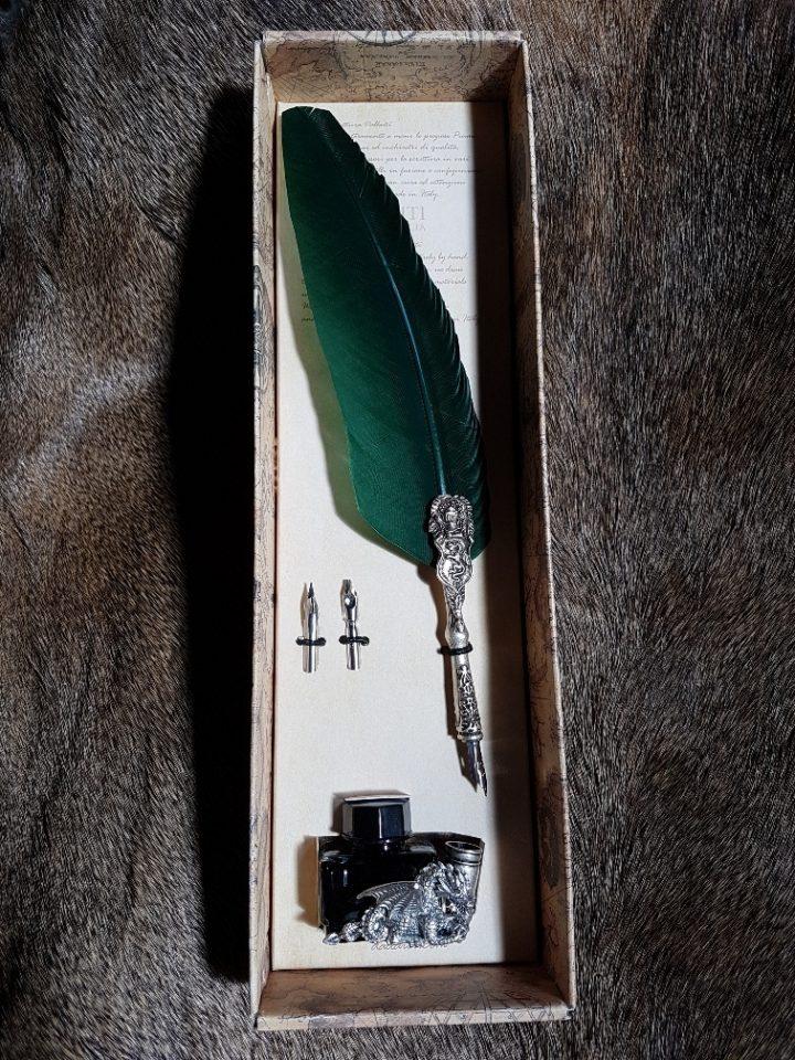 Kalligrafie Set Draak Groen