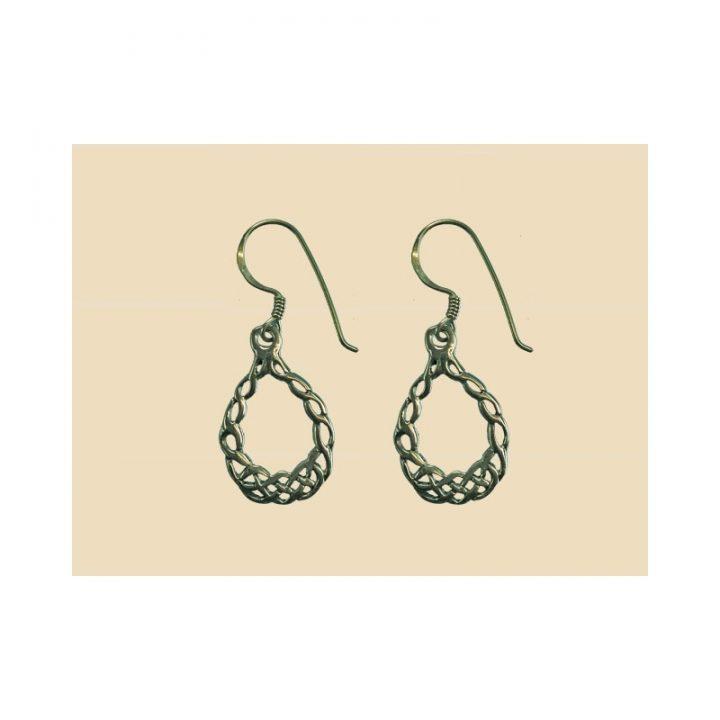 Keltisch knoopwerk oorbellen Zilver